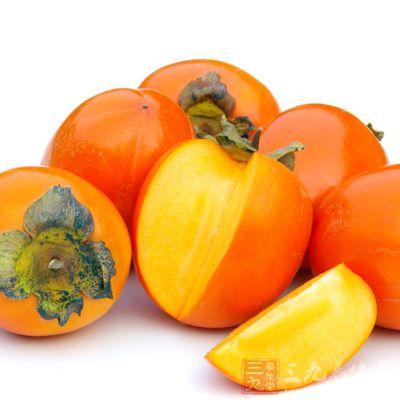 柿子,柿子也能有效防治口腔溃疡